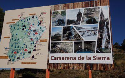 Renovado el panel de bienvenida a Camarena